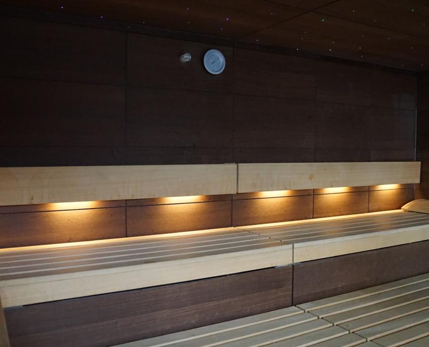 Innenansicht unsere finnische Saune im Sportpark Halle